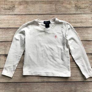 Ralph Lauren White Longsleeved T-Shirt